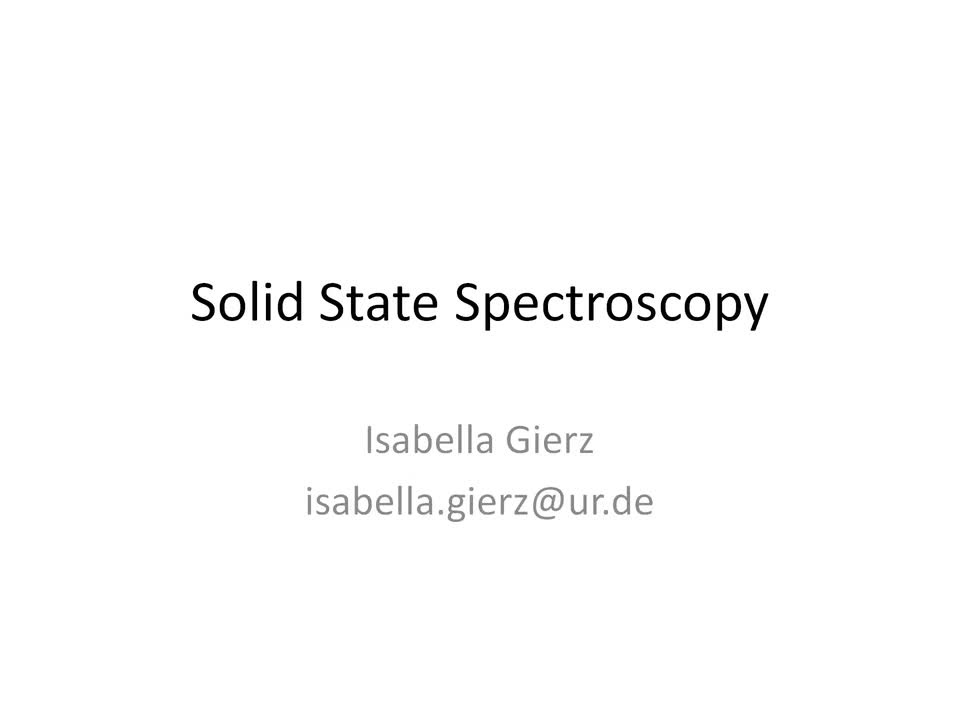 Solid State Spectroscopy 20210706: Time-Resolved Optical Spectroscopy (Raman, Visible, THz)