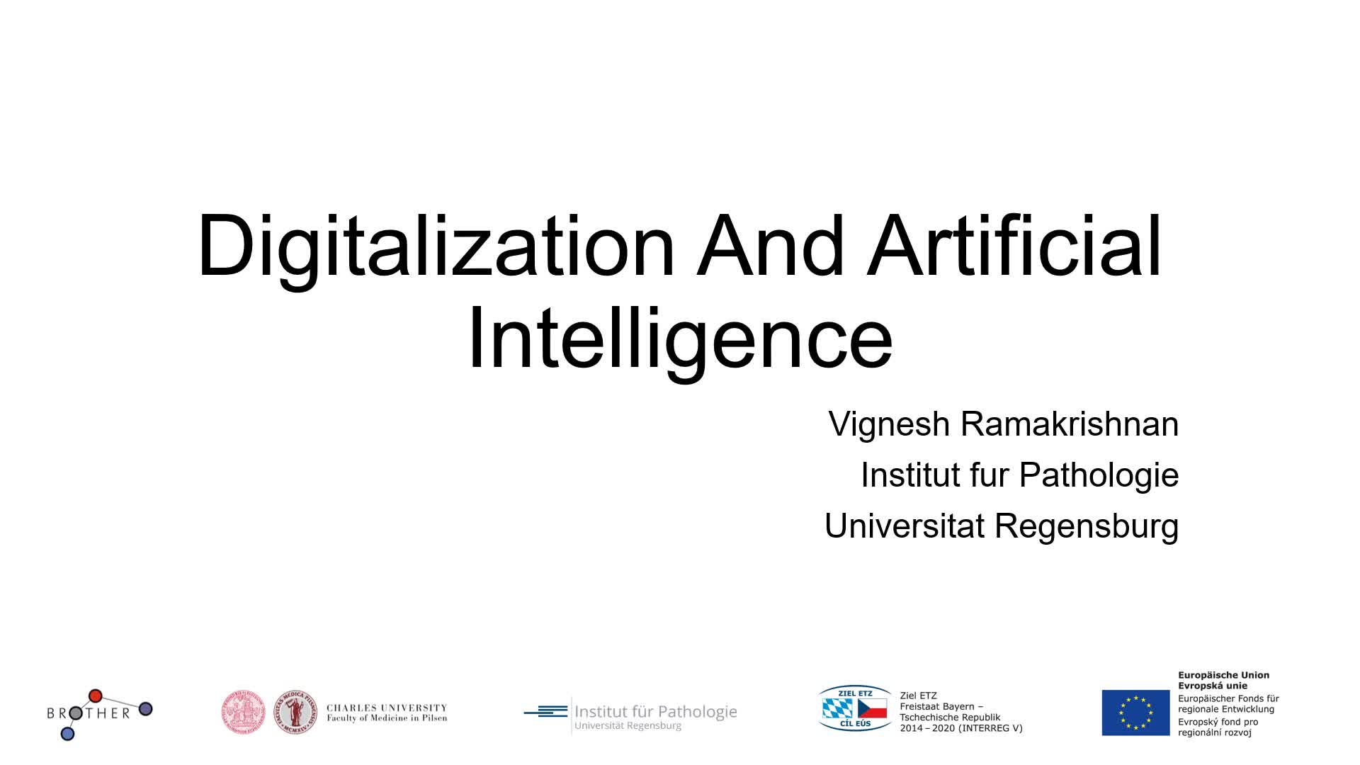Digitalization and Artificial Intelligence
