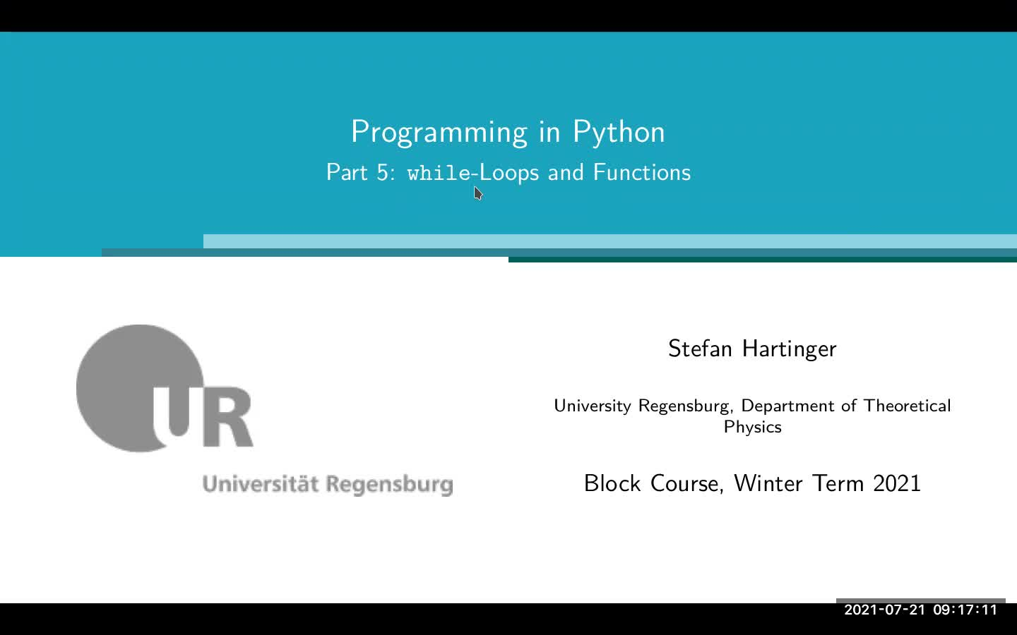 Lecture 03: Changing the Flux of Controls; Functions