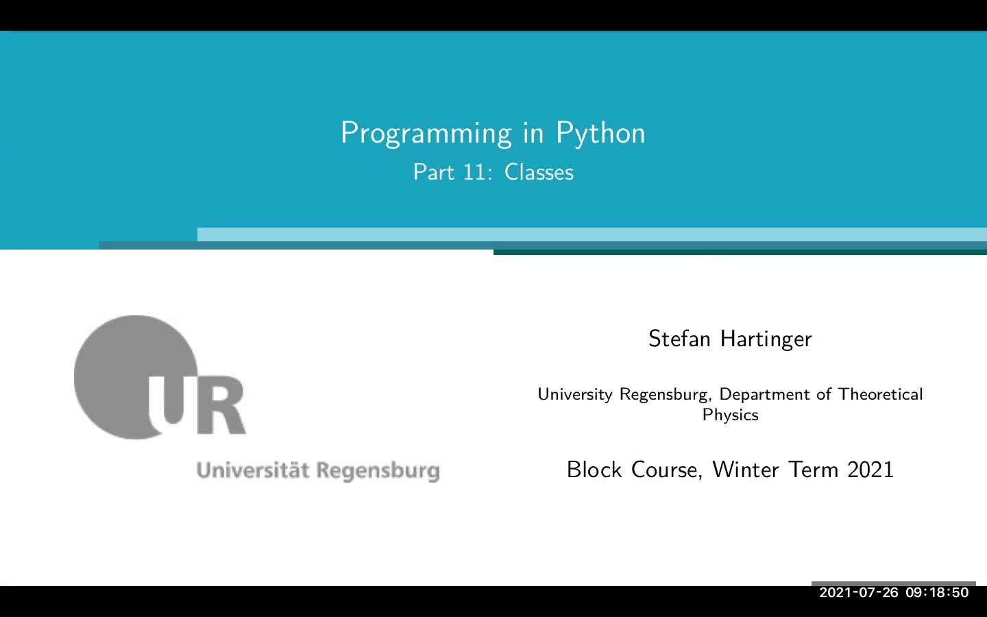 Lecture 06: ObjectOriented Programming